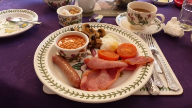 "The breakfast choices seemed to fit the typical ""Scottish breakfast"" fare."
