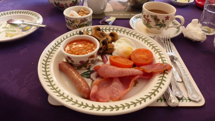 """The breakfast choices seemed to fit the typical """"Scottish breakfast"""" fare."""