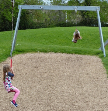 It's hard to top a playground with a zip line.