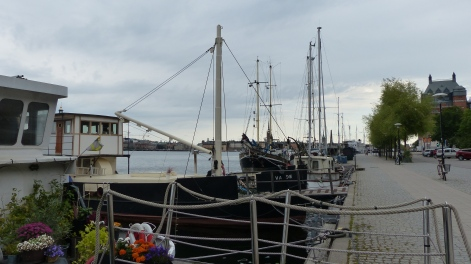 Many ships lined our walk. Some were homes, many had small potted gardens.